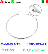 CAVO CAMBIO MTB SHIMANO BICI CITY UNIVERSALE - Ø 1,2 x 1,90 - 2 PEZZI - NUOVO