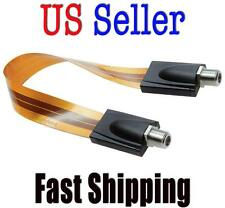 OEM Ghost Wire Flat RG6 Coax Jumper Cable Extreme Slim Flat Window Cable,1ft USA