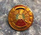 IRAQ-Vintage Iraqi Great Victory Day1988 Metal Pin Badge, Saddam Hussein Era.