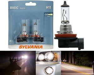 Sylvania Basic H11 55W Two Bulbs Head Light Low Beam Replace Plug Play Upgrade