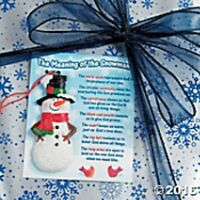 """Meaning of the Snowman Ornament On Card INSPIRATIONAL Christmas  Resin 3 1/2"""""""