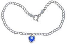 1 Carat Tanzanite 6mm Bezel Heart Bracelet .925 Sterling Silver