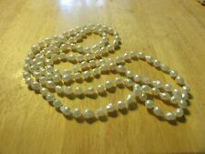 """Slip Over Head Necklace! Sweet! Vintage Jewelry 30"""" White Pearl"""