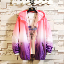 New Mens fashion Hooded color Coat Youth personality Casual Jacket size M #12
