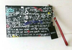DKNY New York Zoe(£90RRP)Graffiti Logo Wristlet Clutch Bag R01LN948 - BNWT
