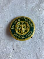 "Vintage Los angeles Examiners Walking Club Pinback Button 1 1/2""  N 18"