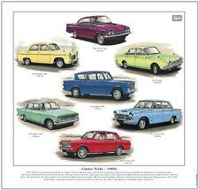 CLASSIC FORDS 1960s - Art Print - Popular Anglia Consul Capri Corsair Cortina +