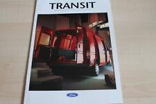 115441) Ford Transit - Kasten Pritsche Fahrgestell - Prospekt 08/1992
