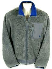 Abercrombie & Fitch Men's Jacket Coat Sweatshirt Gray Fleece Zipper Large L