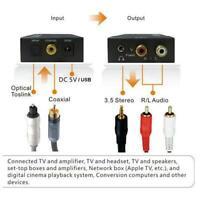Optical Coaxial Digital to Analog Audio Converter Adapter /R B7H5 NE L W P4R2