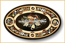 3'x2' Marble Dining Room Table Top Marquetry Inlay Fine Art Home Decor H4573