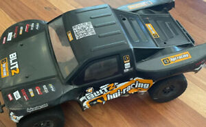 HPI Blitz FLUX 1/10th Scale 2wd Short Course RC Car Upgraded Shocks And RPM Arms