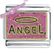 ABALORIO MARGARITA de JSC Amuleto Italiano - ángel ROSA PURPURINA