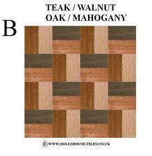 DOLLS HOUSE MINIATURES,WOODBLOCK FLOORING.WOOD FLOOR TILES.WB 4 (B) 1/12TH SCALE