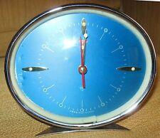 Bellissima sveglia ovale Quadrante azzurro - stile anni '60 - VINTAGE