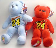 "Lot of 2 Jeff Gordon Nascar 8"" Team Speed Bean Bag Bears"