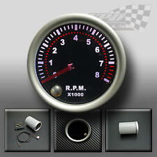 "REV COUNTER TACHO GAUGE Rpm 52mm 2 ""Affumicato faccia 7 COLORI DASH GAUGE Display"