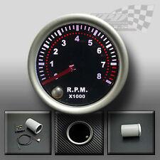 """REV counter tacho rpm gauge 52mm 2 """"fumé visage 7 couleur Dash Jauge Affichage"""