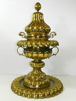 Vintage Brass Bronze Vessel Mangal Turkish Heater 28""