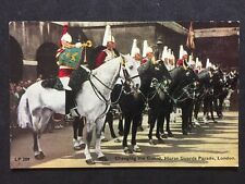 RP Vintage Postcard - London #H33 - Changing The Guard - Horse Guards Parade