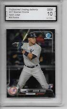 2017 Bowman Chrome # 56 Aaron Judge Rookie Card NY Yankees Graded PGA 10 Gem