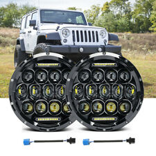 2X 7'' Inch Round 200W Jeep Wrangler Headlights Hi/Lo DRL for 1997-2017 JK TJ LJ