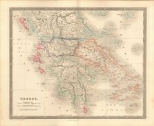 1843 ANTIQUE MAP- DOWER - GREECE