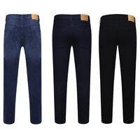 Skinny Jeans Mens Slim Fit Blue Denim Pants Casual Work Trousers All Waist Size