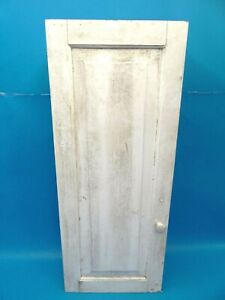 Used Rustic Homemade Plywood Painted White Small Rectangular Storage Cabinet