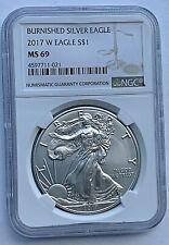 2017 W $1 U.S. Silver Eagle Burnished NGC MS69