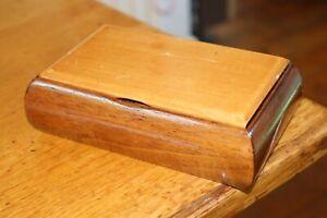 Vintage Wood Wooden Music Box Tallent of Old Bond Street Plays Blue Danube