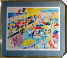 LeRoy Neiman La Plage A Deauville Signed Serigraph Limited Edition Art L@@K