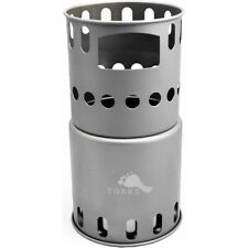 TOAKS Titanium Backpacking Wood Burning Stove STV-11 - Outdoor Camping