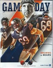 2015 Chicago Bears vs Cleveland Browns Football Program Jared Allen cover