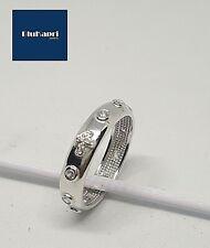 Anello rosario in argento 925 con  zirconi bianchi