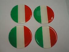 50mm (U5) Alloy Wheel Center Centre Badges Italy Italian Flag