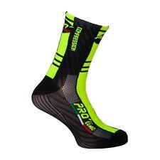 PRO' line Calze Calzini Ciclismo Bici Bicicletta Giallo Fluo Nero Cycling Socks