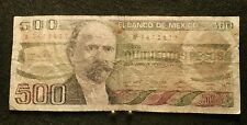 MEXICO 500 Pesos Banknote World CurrencyBILL So. America Note 1984