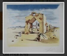 Salvador Dali PARANOIC VILLAGE Signed Limited Edition Lithograph  Certificated