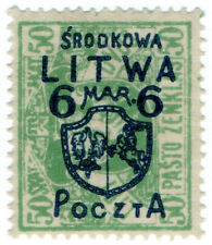(I.B) Lithuania Postal : Central Lithuania 6m on 50sk OP