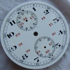Chronograph Pocket Watch enamel dial 45,5 mm. in diameter