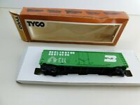 "Vintage Tyco HO Scale ""Burlington Northern"" Box Car - Train Car In Box"
