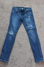 Womens Ann Taylor LOFT Modern Skinny Blue Jeans Denim 0