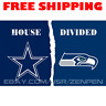 Dallas Cowboys vs Seattle Seahawks House Divided Flag Banner 3x5 ft NFL 2019 NEW