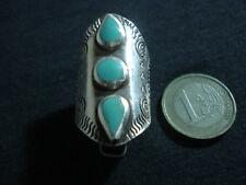 anello argento 925 spoletta fascione regolabile turchese gioiello sterling donna
