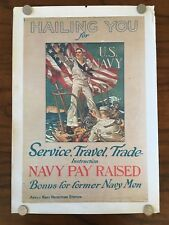 J.C. Leyendecker Hailing You for the U.S. Navy  WWI Navy recruitment poster 1918