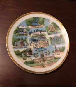Vernon Kilns Souvenir Collector State Plate: WEST VIRGINIA: Polychrome: VGC: NR