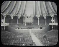 Glass Magic Lantern Slide GLASGOW EXHIBITION CONCERT HALL INTERIOR 1901 PHOTO