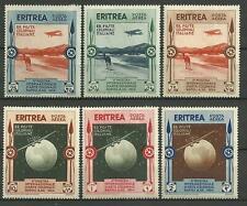 Eritrea Italian Colony: 1934 Air Post C1-6 Set MH