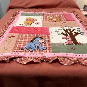 Disney Winnie The Pooh Baby Comforter 36x44 Crib Blanket
